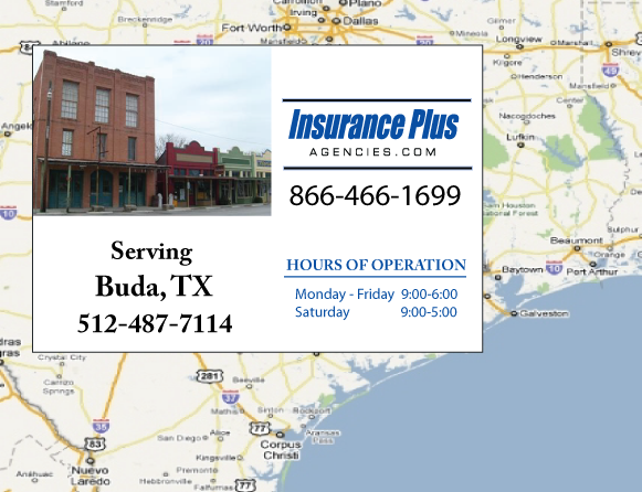 Insurance Plus Agencies of Texas (512)487-7114 is your local Progressive Car Insurance agent in Buda, Texas.