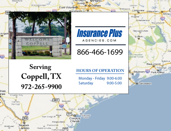 Insurance Plus Agencies of Texas (972)265-9900 is your Progressive Boat, Jet Ski, ATV, Motor Coach, & R.V. Insurance Agent in Coppell, Texas.