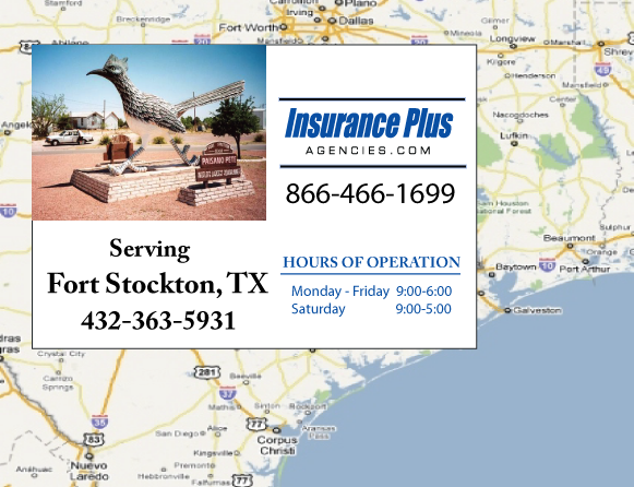 Insurance Plus Agencies of Texas (432)363-5931  is your Event Liability Insurance Agent in Fort Stockton, Texas.