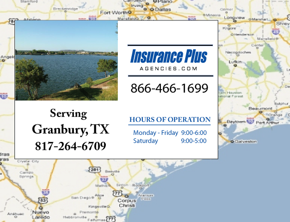 Insurance Plus Agencies of Texas (817)264-6709 is your Commercial Liability Insurance Agency serving Granbury, Texas.
