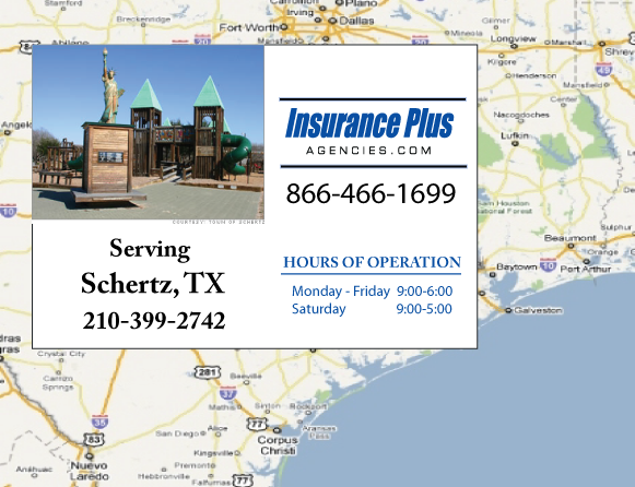 Insurance Plus Agencies of Texas (210) 399-2741 is your Suspended Drivers License Insurance Agent in Schertz, Texas.