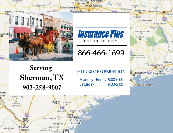 Insurance Plus Agencies of Texas (903)258-9007 is your Salvage or Rebuilt Title Insurance Agent in Sherman, Texas.
