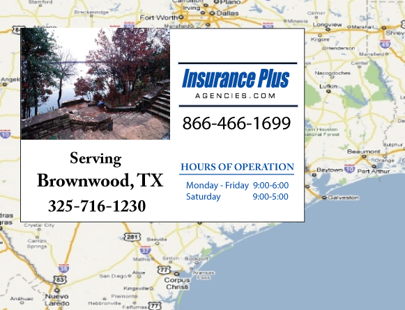 Insurance Plus Agencies of Texas (325) 716-1230 is your Suspended Drivers License Insurance Agent in Brownwood, Texas.
