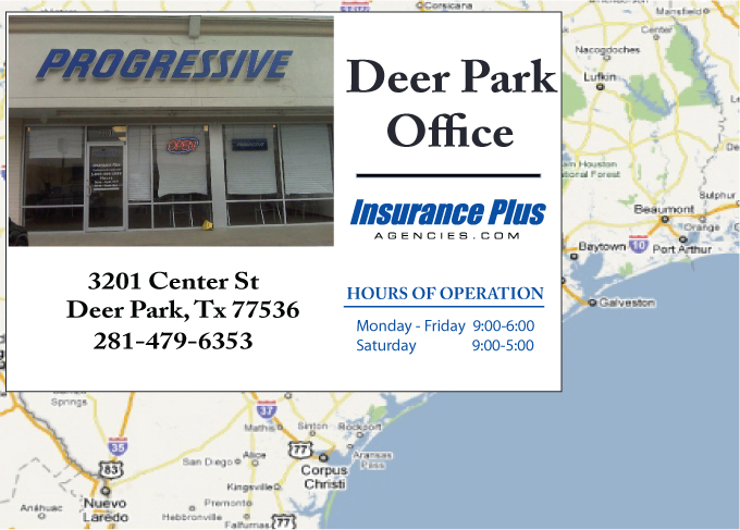 Progressive authorized agency (281) 479-6353 is your Teen Driver Auto Insurance Specialist in Deer Park, Texas.