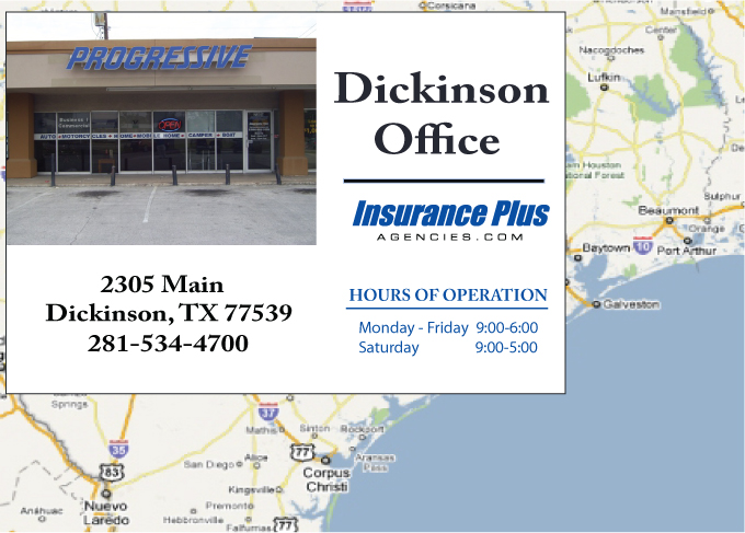 Progressive authorized agency (281) 534-4700 is your Teen Driver Auto Insurance Specialist in Dickinson, Texas.