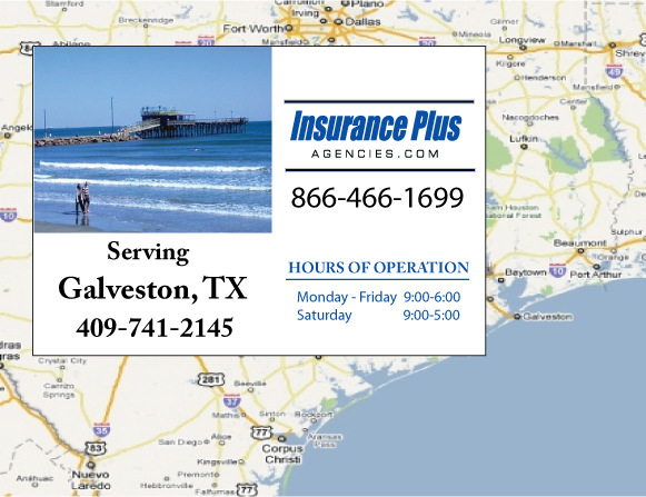 Insurance Plus Agencues of Texas (409) 741-2145 is your Unlicense Driver Insurance Agent in Galveston, Texas