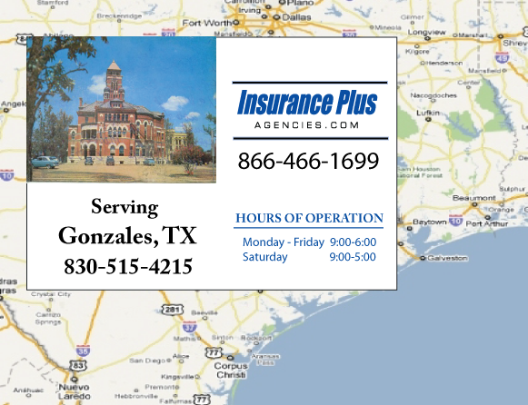 Insurance Plus Agencies of Texas (830)515-4215 is your Salvage or Rebuilt Title Insurance Agent in Gonzales, Texas.