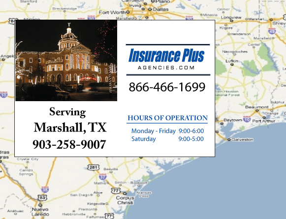 Insurance Plus Agencies of Texas (903)258-9007 is your Salvage Or Rebuilt Title Insurance Agent in Marshall, Texas.