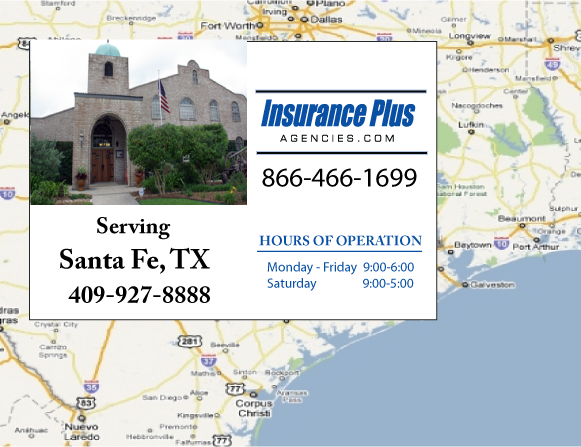 Insurance Plus Agencies of Texas (409)927-8888 is your Salvage or Rebuilt Title Insurance Agent in Santa Fe, Texas.